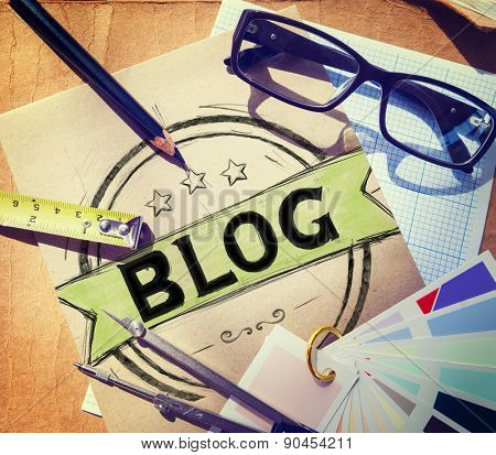 Blog Blogging Online Writing Design Web Page Website Concept