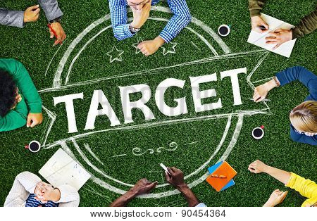 Target Aim Aspirations Inspiration Mission Goal Concept