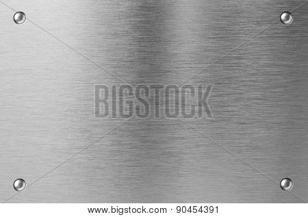 stainless steel metal plate with rivets