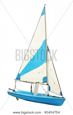Sailing ships under the white background