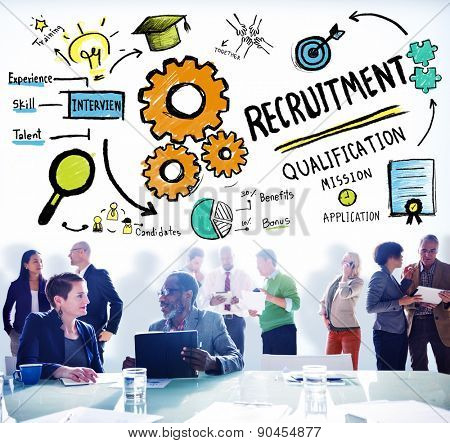 Recruitment Qualification Mission Application Employment Hiring Concept