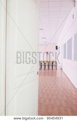 Open the door to the classroom