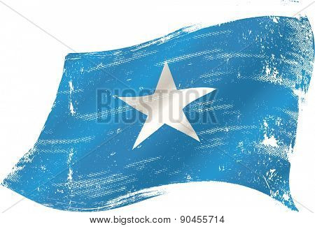 Somalian grunge flag. A grunge flag of Somalia for you in the wind