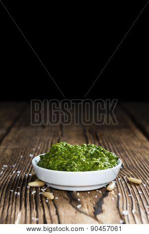 Portion Of Ramson Pesto