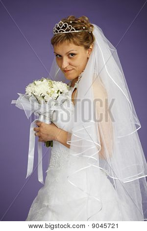 Portrait Of Bride With Bouquet