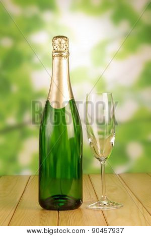Champagne with empty Glass