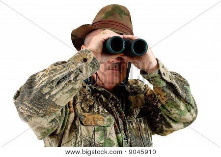 Hunter With Binos