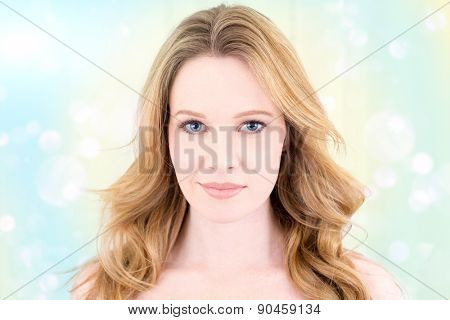 Beauty portrait of woman with wind blown hair