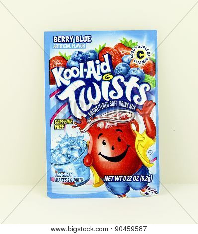 Package Of Berry Blue Flavored Kool-aid