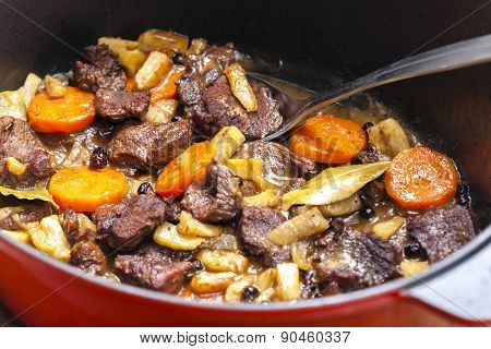 mutton meat with vegetables
