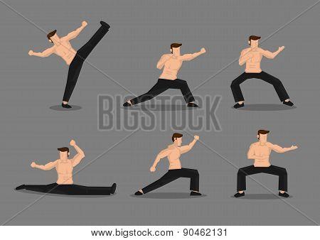 Martial Arts Vector Character Illustration