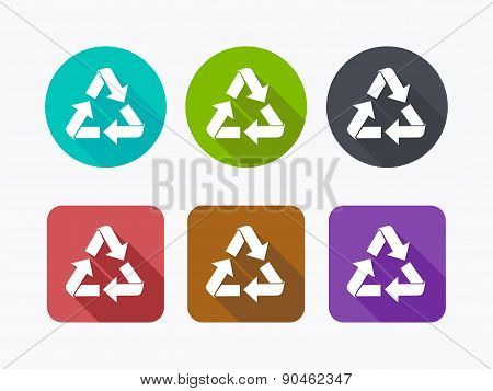Recycle icon in flat design