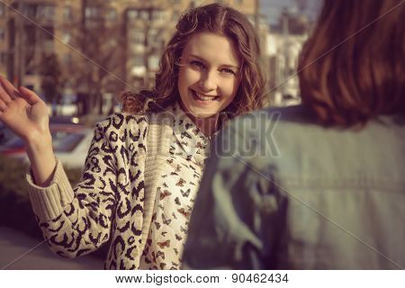 The Two Girls Met On The Street