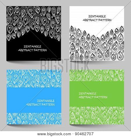 Hand Drawn Zentangle Document Template