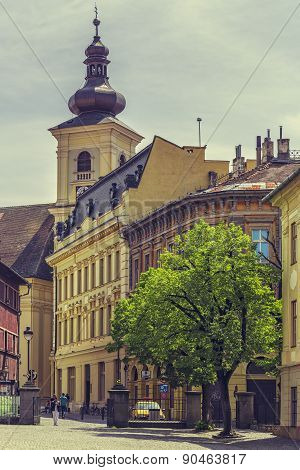 The Great Square And Roman-catholic Church, Sibiu, Romania