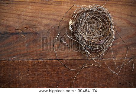 Natural Nest on Weathered Board