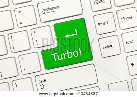 White Conceptual Keyboard - Turbo (green Key)