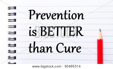 Prevention Is Better Then Cure Text