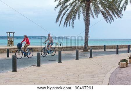 Bike track along Can Pastilla