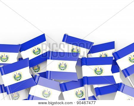 Flag Pin Of El Salvador