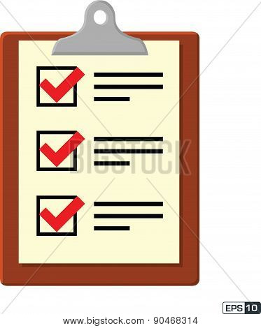 Check List Icon - Illustration