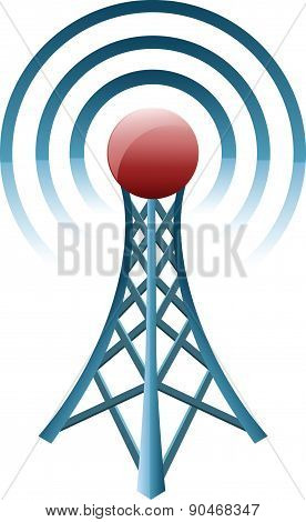 Transmitter icon - Illustration
