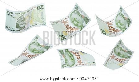 Flying 20 Turkis Liras