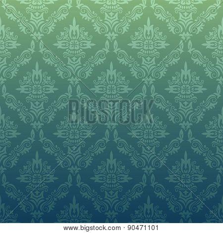 Dark Repeating Pattern In Vintage Style