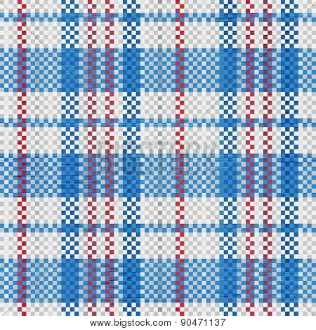 Polypropylene Woven Seamless Pattern In Blue Colors
