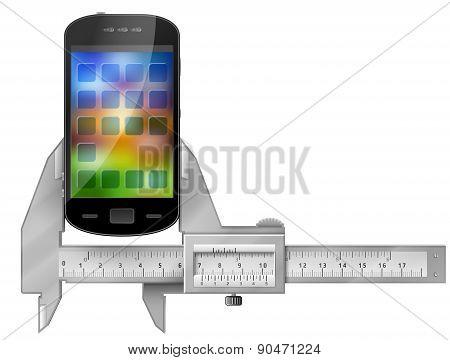Caliper Measures Smartphone