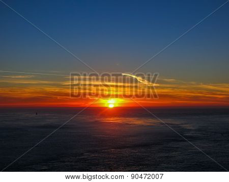 Sunset from San Francisco bay