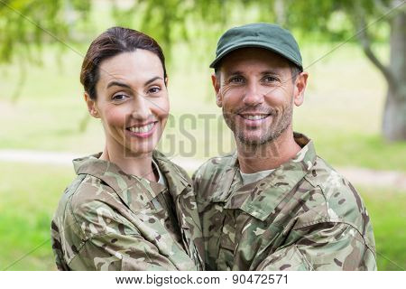 Army parents reunited on a sunny day
