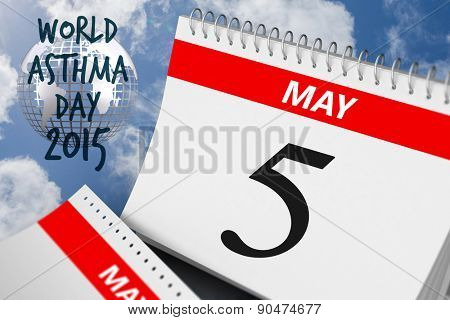world asthma day against bright blue sky with clouds