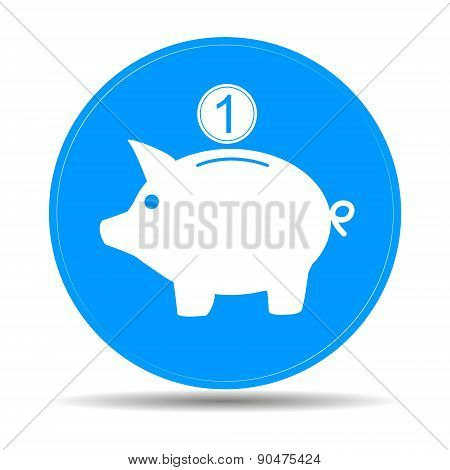 Vector Piggy Bank Icon