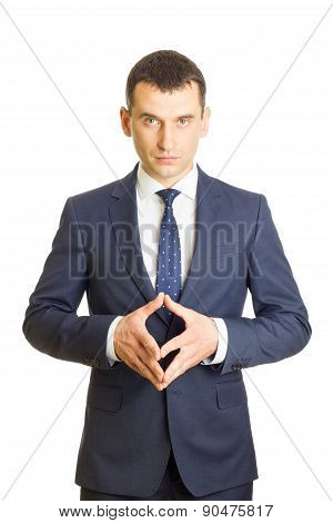 Businessman In Thinking Pose