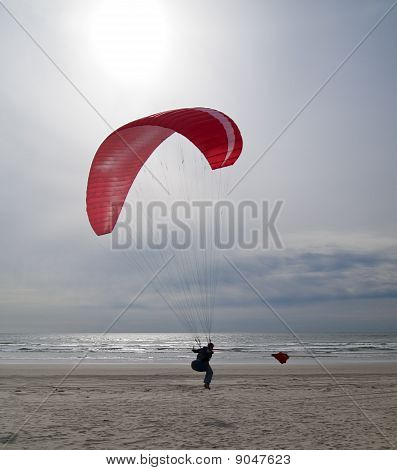 Paragliding On Oregon Coast