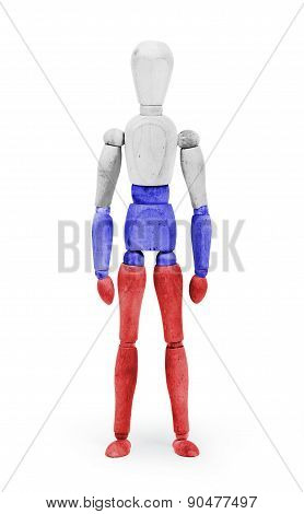 Wood Figure Mannequin With Flag Bodypaint - Russia