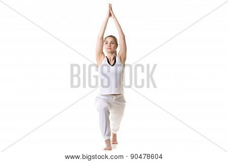 Yoga Pose Warrior 1