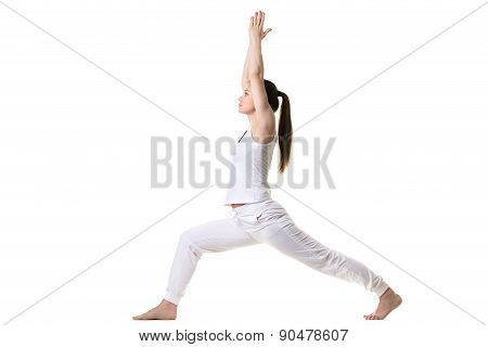 Profile Of Warrior 1 Yoga Pose
