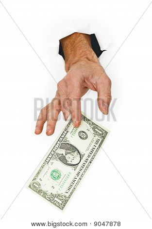 Giver Money Isolated On White