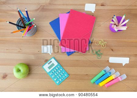 School Supplies On The Desk