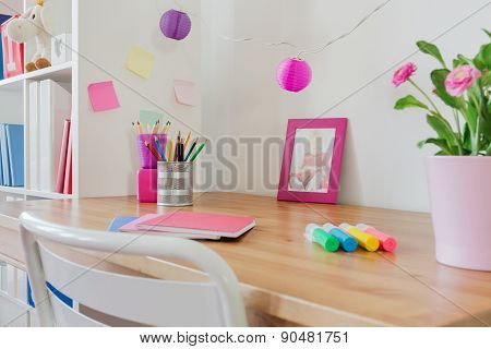 Stationery On The Desk