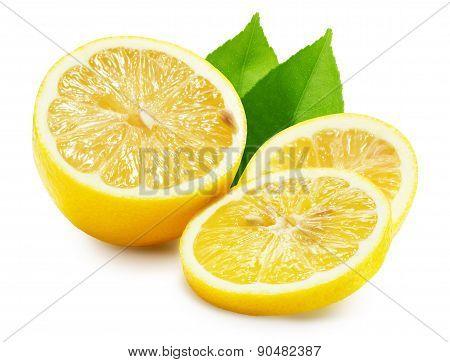 Juicy Lemons Isolated On The White Background