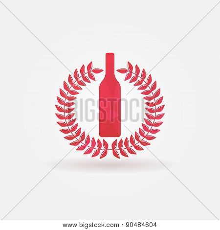 Red Wine polygonal vector logo
