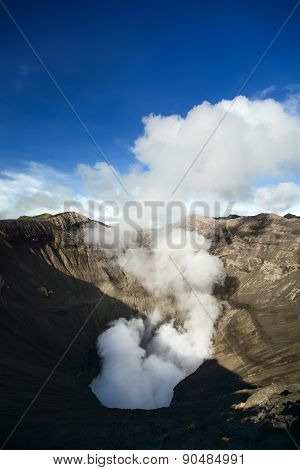 Volcanic Crater Of Mount Bromo