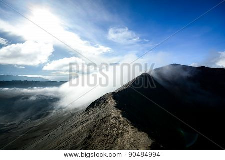 Crater Rim Of Mount Bromo In Java, Indonesia