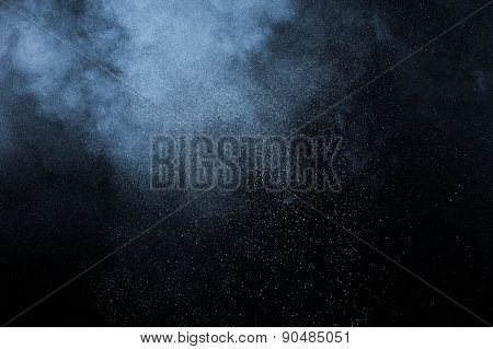 abstract white powder