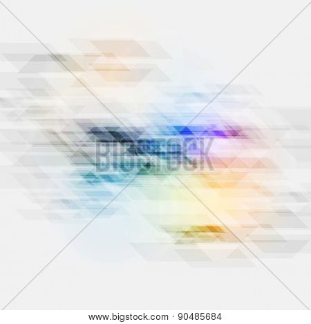 Colorful tech abstract geometric texture. Vector background