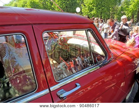 Interior Of Soviet Retro Car Of 1960S Gaz M21 Volga