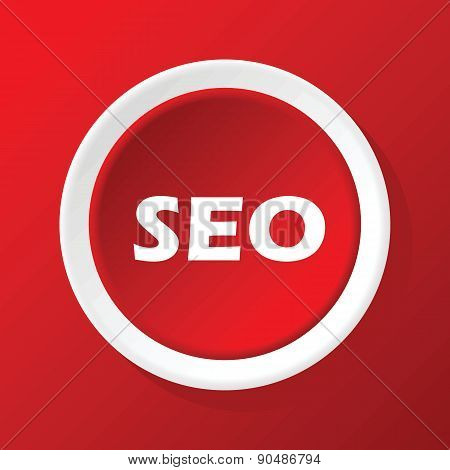 SEO icon on red